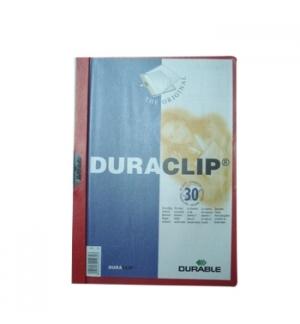 Classificador Clip Lateral Durable 2200 Vermelho-1un