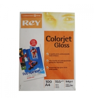 Papel 155gr A4 Rey InkJet Colorjet Glossy - 1x100 Folhas