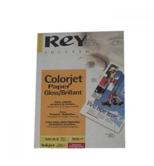 Papel  A3 155gr InkJet ReyColorjet Glossy/Brilhante - 50Fls