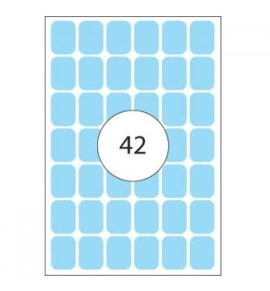 Etiquetas 16x22mm Herma2383 Azul Claro 1344un