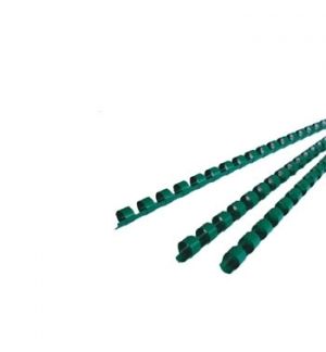Argolas Pvc Encadernar 06mm p/ 20 Folhas Cx 100un Verde