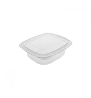 Embalagem Alimentar 750ml  PP Plástico Quadrada Tampa 100un