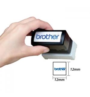 Carimbo BROTHER Preto 6 carimbos de 12 x 12 mm