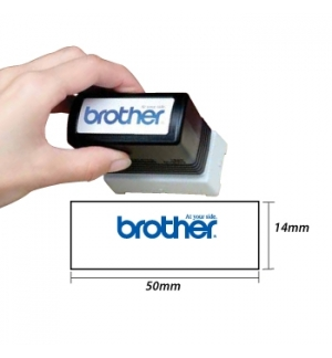 Carimbo BROTHER Preto 6 carimbos de 18 x 50 mm