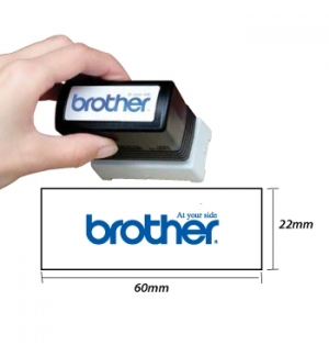 Carimbo BROTHER Preto 6 carimbos de 22 x 60 mm