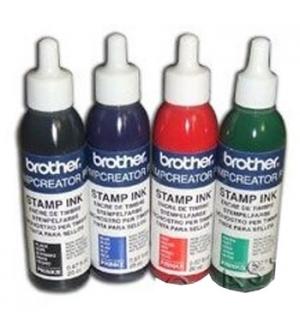 Tinta BROTHER Vermelho para Carimbos (20cc)