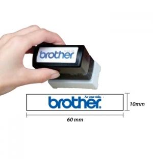 Carimbo BROTHER Azul 6 carimbos de 10 x 60 mm