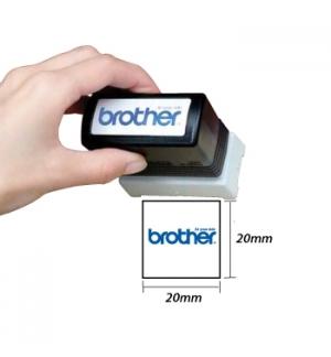 Carimbo BROTHER Azul 6 carimbos de 20 x 20 mm