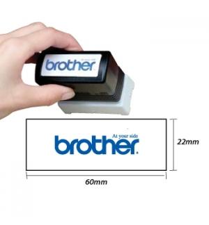 Carimbo BROTHER Azul 6 carimbos de 22x60mm