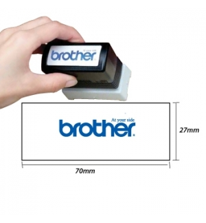 Carimbo BROTHER Azul 6 carimbos de 27x70mm