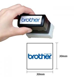 Carimbo BROTHER Azul 6 carimbos de 30x30mm