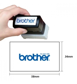 Carimbo BROTHER Preto 6 carimbos de 34x58mm
