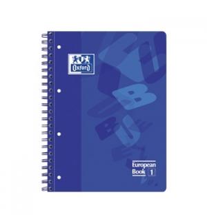 Caderno Espiral Oxford European Plastico A4 Pautado Azul