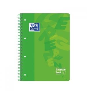 Caderno Espiral Oxford European Plastico A4 Pautado Verde