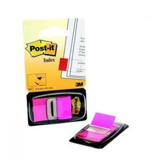 Post-it Index 1 Polegada Rosa Flurescente - 1un