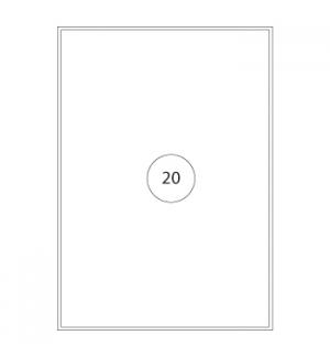 Etiquetas 210x297 Poliester Matte (Lase&Copier) Resistentes