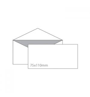 Envelopes 75x110mm p/Cartoes Visita  s/janela  s/Cola-100un