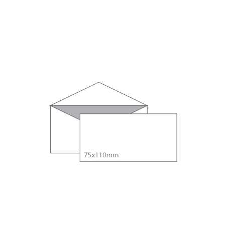 Envelopes Cartoes Visita 75x110mm s/janela Pala s/Cola Cx100