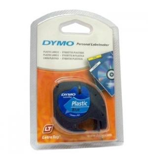Fita Gravacao Dymo 12mmx4m Preto/Azul (91205)