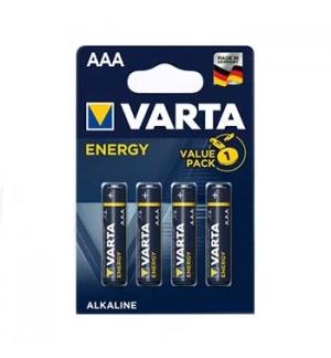 Pilhas Alcalinas Varta Energy LR03 AAA 1.5V 1100mAh 4un