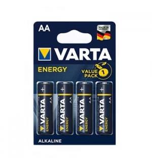 Pilhas Alcalinas Varta Energy LR6 AA 1.5V 2600mAh 4un
