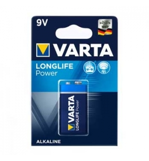 Pilha Alcalina Varta High Energy 6LR61 (4922) 9V 550mAh 1Un
