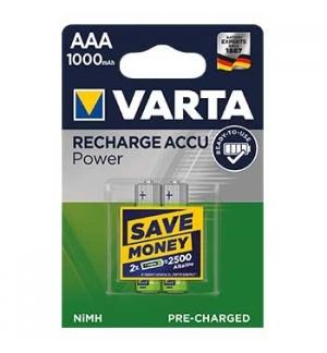Pilha Recarregavel Varta HR03 AAA 1000mAh 1.2V (5703) 2Uni
