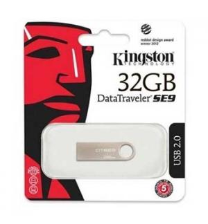 Pen Drive 32GB Kingston DataTraveler SE9 Prata USB 2.0