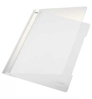 Classificador Plastico Capa Transp Leitz 4191 Branco Cx 25u