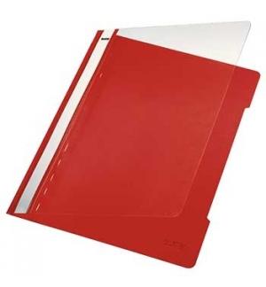 Classificador Plastico Capa Transp Leitz 4191 Vermelho 25un