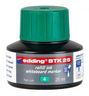 Recarga p/Marcador Quadros Brancos Edding BTK 25ml Verde - 1