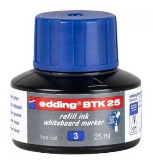 Recarga p/Marcador Quadros Brancos Edding BTK 25ml Azul - 1u