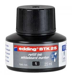 Recarga p/Marcador Quadros Brancos Edding BTK 25ml Preto - 1