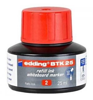 Recarga p/Marcador Quadros Brancos Edding BTK 25ml Vermelho