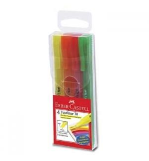 Marcador Fluorescente Faber-Castell Textliner 38 - 4un
