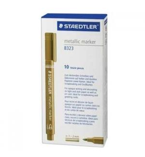Marcador Medio 1,2mm Staedtler Metalic Marker -Ouro- Cx10un