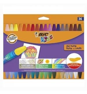 Lapis Pastel a Oleo Bic Kids Cx Cartao 36un