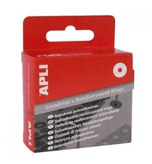 Reforços Autoadesivos APLI 13mm Dispensador Branco 500un
