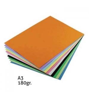 Cartolina 180gr 50 Folhas A3 Cores Medias Sortidas