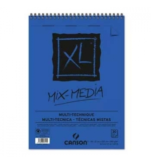 Bloco Espiralado Canson XL Mix Media A4 300gr 30F