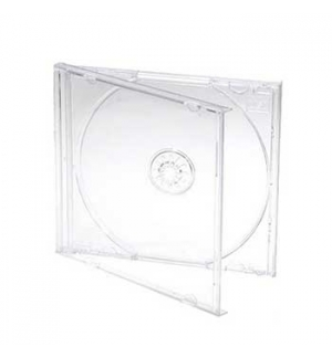 Caixa para CD/DVD Slim 5mm - Transparente Quadradas 1un
