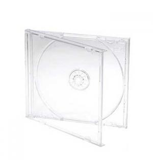 Caixa para CD/DVD Slim 5mm - Transparente Quadradas 1un