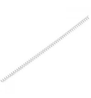 Argolas Espiral Metalicas Passo 5:1 10mm Cx 100 Prata