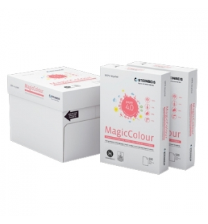 Papel Fotocopia Steinbeis A4 80gr Reciclado Rosa 1x500Fls