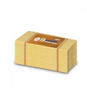 Pano Po Flanela Amarelo 36X36cm-(Pack12)