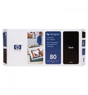 Cabeça Impressão + Kit Limpeza HP 80 Preto C4820A 17ml