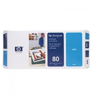 Cabeça Impressão + Kit Limpeza HP 80 Azul C4821A 17ml