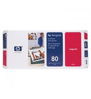 Cabeça Impressão + Kit Limpeza HP 80 Magenta C4822A 17ml