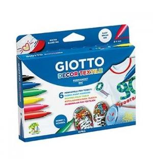 Marcador Tecidos Giotto Decor Cores Sortidas - 6un
