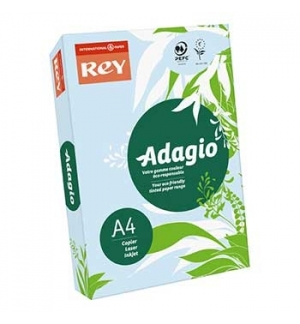 Papel Fotocopia Adagio(cd01) A4 80gr Azul 1x500Fls (PASTEL)